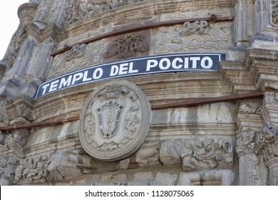 Templo Del Pocito - The Sources Chapel, one of the most beautiful baroque chapels in Mexico. A fragment of the facade