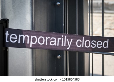 temporarily closed banner - temporarily closed sign outdoor exhibition,