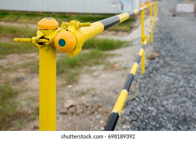 Temporary guard rail for safety worker in japan construction site