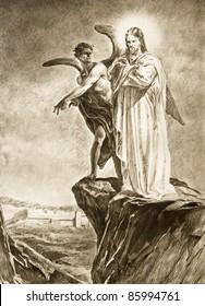 Temptation Of Christ On Desert