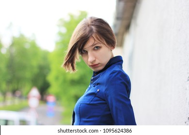Temptress, white, temptation, icusitelnitsa, playful, playful, joke, frivolous woman, cheerful woman, happy woman, leave. Serious lady, dangerous. Say no. Go away. Female eyes. Beat and run.