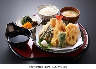tempura japanese set menu