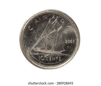 Ten Cents Coin Canada 2007 tail