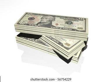 Ten dollar isolated