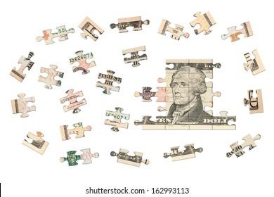 Ten dollars jigsaw
