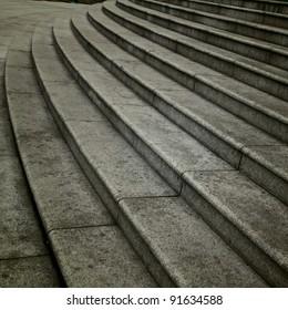 ten footstep with shadow walking across