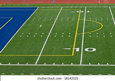 Ten and Goal Football Field