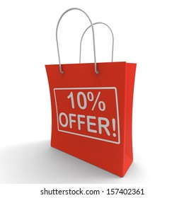 Ten Percent Off Shows Special Offer Or Savings