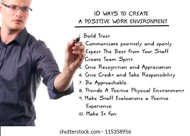 ten ways to create a positive work environment