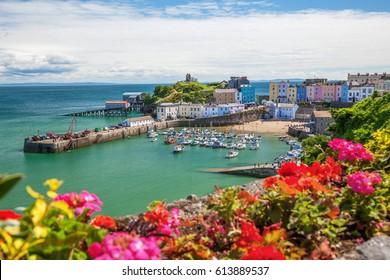 Tenby Harbour,  Pembrokeshire, Wales, UK