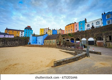 Tenby Harbour in  Pembrokeshire, West Wales, Uk.