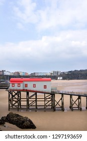 Tenby, UK - 27th March 2013: The old RNLI coastguard station at Tenby which is recently converted for residential use. Pembrokeshire, Wales, UK