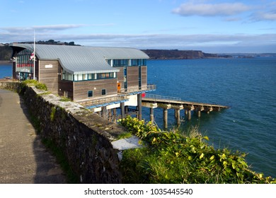Tenby, UK - 7th November 2011: The new coastguard station, Tenby, Pembrokeshire, Wales, UK. Tenby Lifeboat Station on the South West Wales Coast is one of the busiest in the UK.