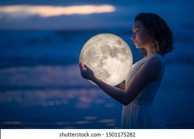 """Image result for girl and moon in background"""""""