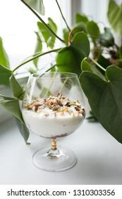 tender milk dessert with nuts
