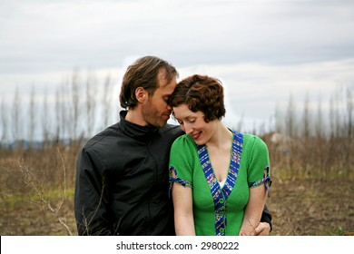 tender moment in a rural setting