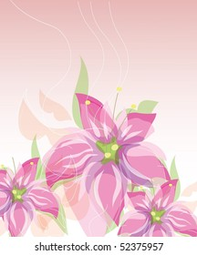 Tender pink floral background