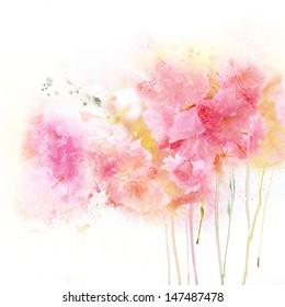 Tender watercolor background