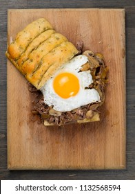 Tenderloin steak beef and egg