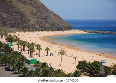 Tenerife beach, Spain, playa de las teresitas