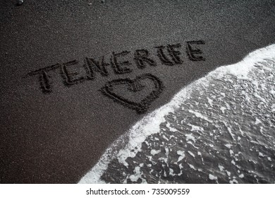 tenerife black sand, canary islands, spain