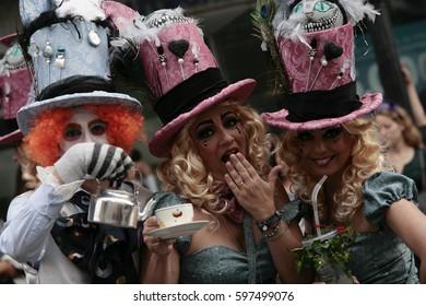 Tenerife Canary Islands 4 March 2017. Aposoic Carnival in Puerto de la Cruz.