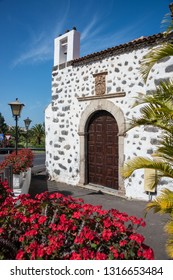Tenerife, Canary islands - February 12, 2019: Chapel of an old mansion in San Nicolas, in the tourist town of Puerto de la Cruz