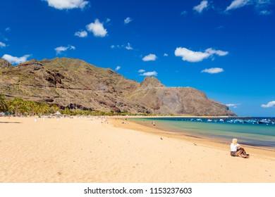 Tenerife, Canary Islands, Spain-Las Teresitas beach near San Andres