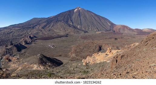 Tenerife, Canary Islands - View over the center of the Teide National Park from the western flank of the mountain Montana de Guajara