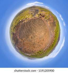 Tenerife El Teide Volcano Aerial 360° Little Planet