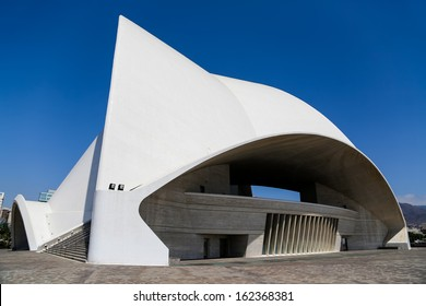 TENERIFE, SPAIN - AUGUST 31: Auditorio de Tenerife in Tenerife, Spain at August 31, 2013. It was designed by architect Santiago Calatrava Valls and opened at September 26, 2003.