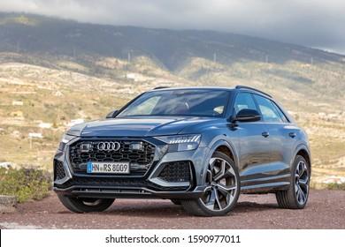 TENERIFE, SPAIN - DECEMBER 6, 2019: Audi RS Q8 in Tenerife, Spain, December 7, 2019