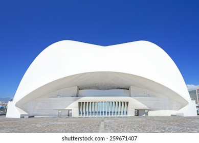 TENERIFE, SPAIN - MARCH 17: Auditorio de Tenerife on March 17, 2014 in Tenerife, Spain. It is designed by architect Santiago Calatrava Valls and has become architectural symbol Santa Cruz de Tenerife.