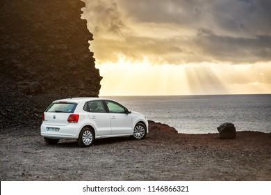 TENERIFE, SPAIN - May 10, 2018: AutoReisen - rent a car -  in Punta de Teno