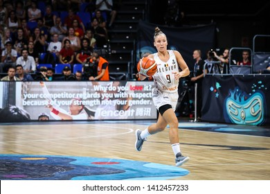 Tenerife, Spain, September 29, 2018: Belgian basketball player Marjorie Carpreaux in action during basketball match BELGIUM vs USA at Santiago Martin Arena.