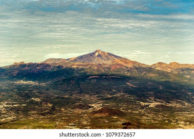 Tenerife,Teide aerial shot