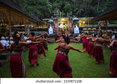 Tenganan, Bali / Indonesia - May 31rd 2019 : community activities in the village of tenganan, bali
