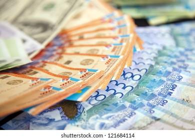 Tenge. Money of Kazakhstan. Dollars. Euro.