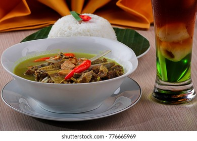 Tengkleng is a kind of soup with the main ingredient of goat bone. traditional food of indonesia