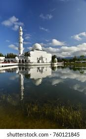 The Tengku Tengah Zaharah Mosque or the Floating Mosque is the first real floating mosque in Malaysia.