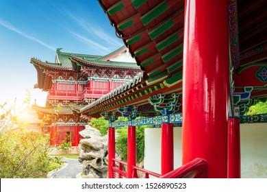 Tengwang Pavilion ancient buildings, 1400 years ago, Nanchang, China.