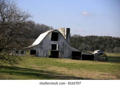 Tennessee Farmland in Winter near Franklin Tennessee
