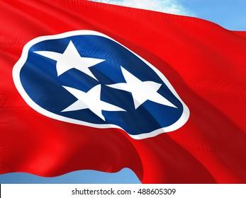 Tennessee flag on the mast