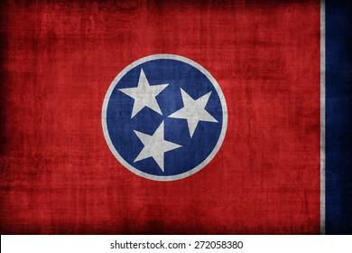 Tennessee flag pattern, retro vintage style