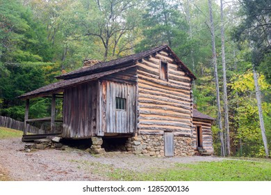 Tennessee, Great Smoky Mountains National Park, Cades Cove, Elijah Oliver Place, Farmhouse, built 1866