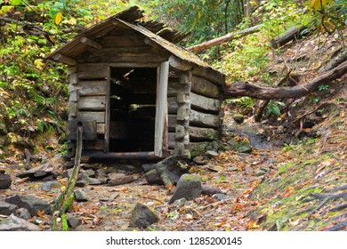 Tennessee, Great Smoky Mountains National Park, Cades Cove, Elijah Oliver Place, Springhouse, used to keep food items cool