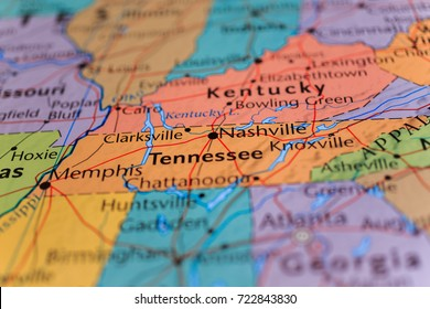 Nashville Tennessee Map Images, Stock Photos & Vectors ...