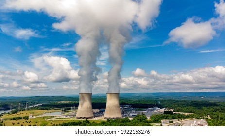 Tennessee Watts Bar Nuclear facility and surrounding forest