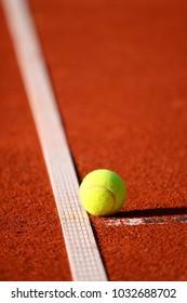 tennis ball falling on the line, Hamburg, Germany, 06 12 2017
