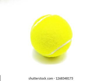 Tennis ball freed on white background